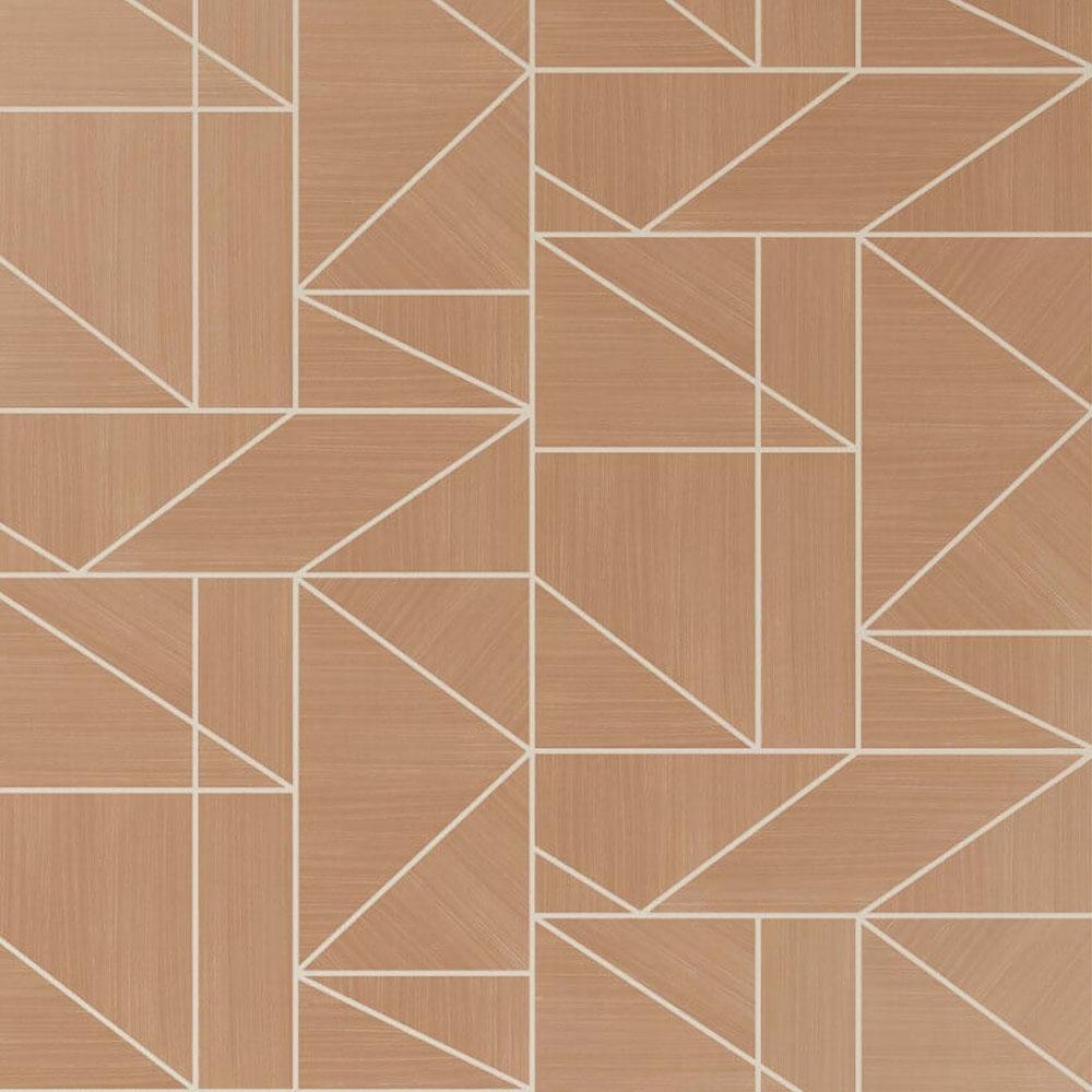 Alexis Geometric Wallpaper Rose Gold
