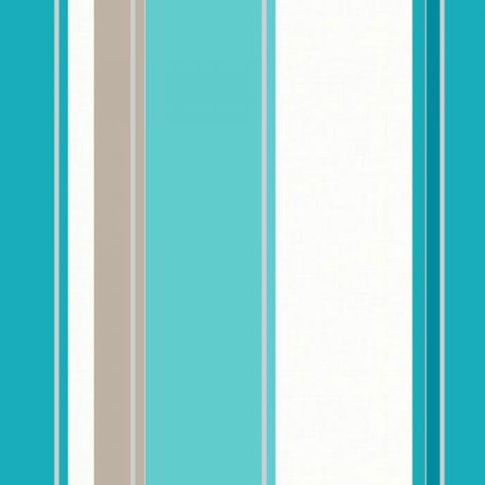 Arthouse Opera Carina Striped Wallpaper Teal / Cream
