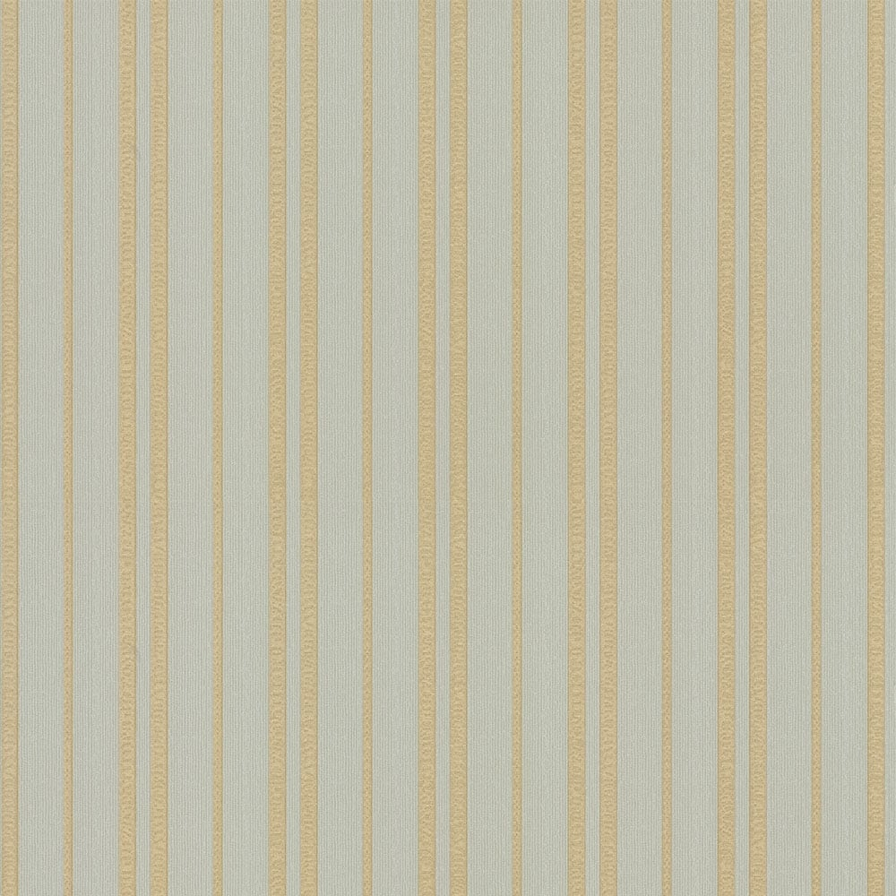 Vintage Messina Stripe Wallpaper Teal Gold 270702
