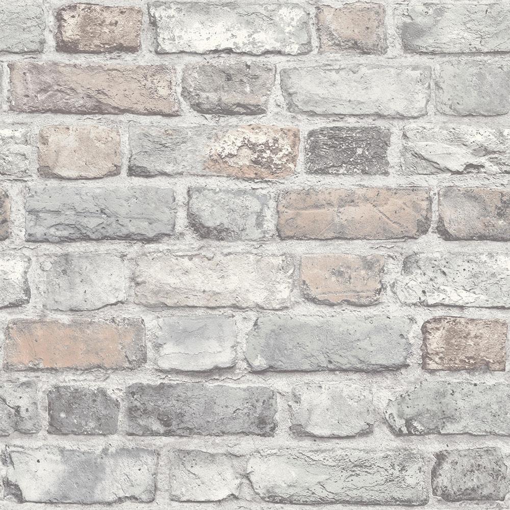 I Love Wallpaper Battersea Brick Wall Effect Wallpaper