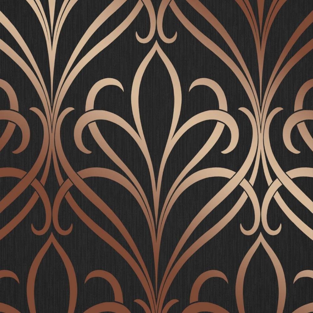 Henderson Interiors Camden Damask Wallpaper Charcoal