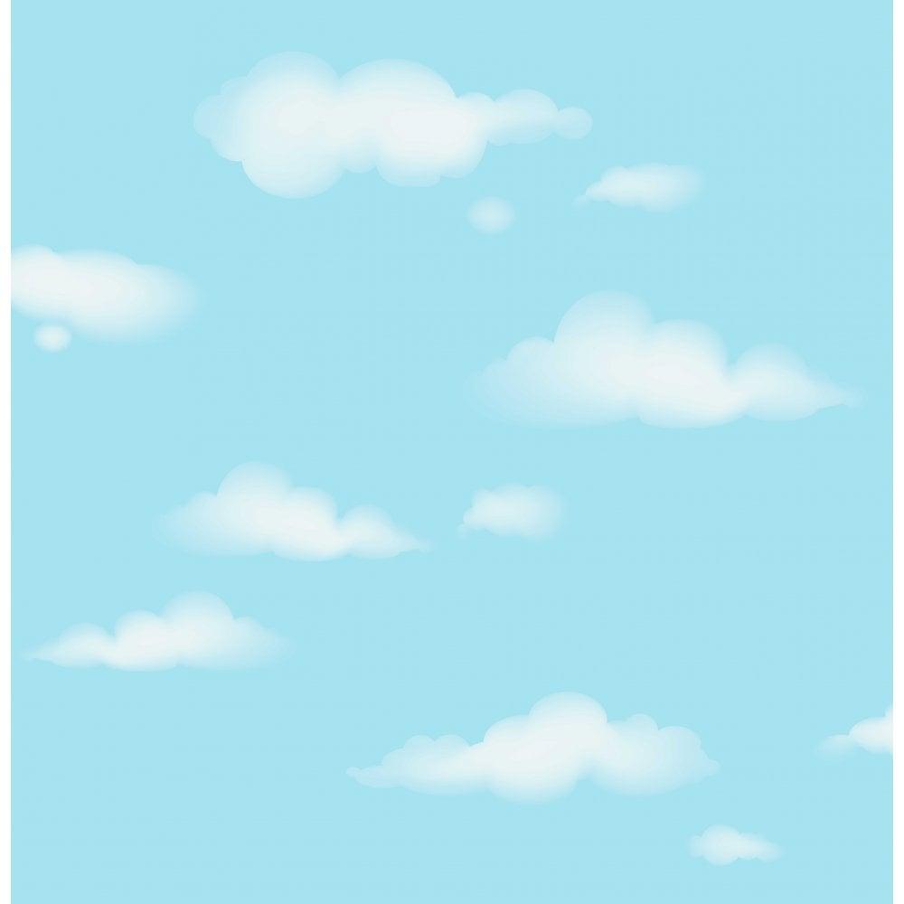 Beau Carousel Clouds Wallpaper Blue, White (DL21136)
