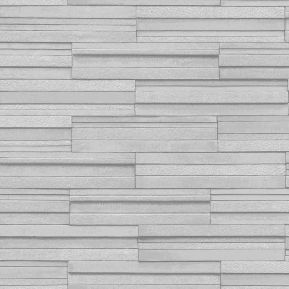 Ceramica Slate Tile Washable Wallpaper Grey Fd40127