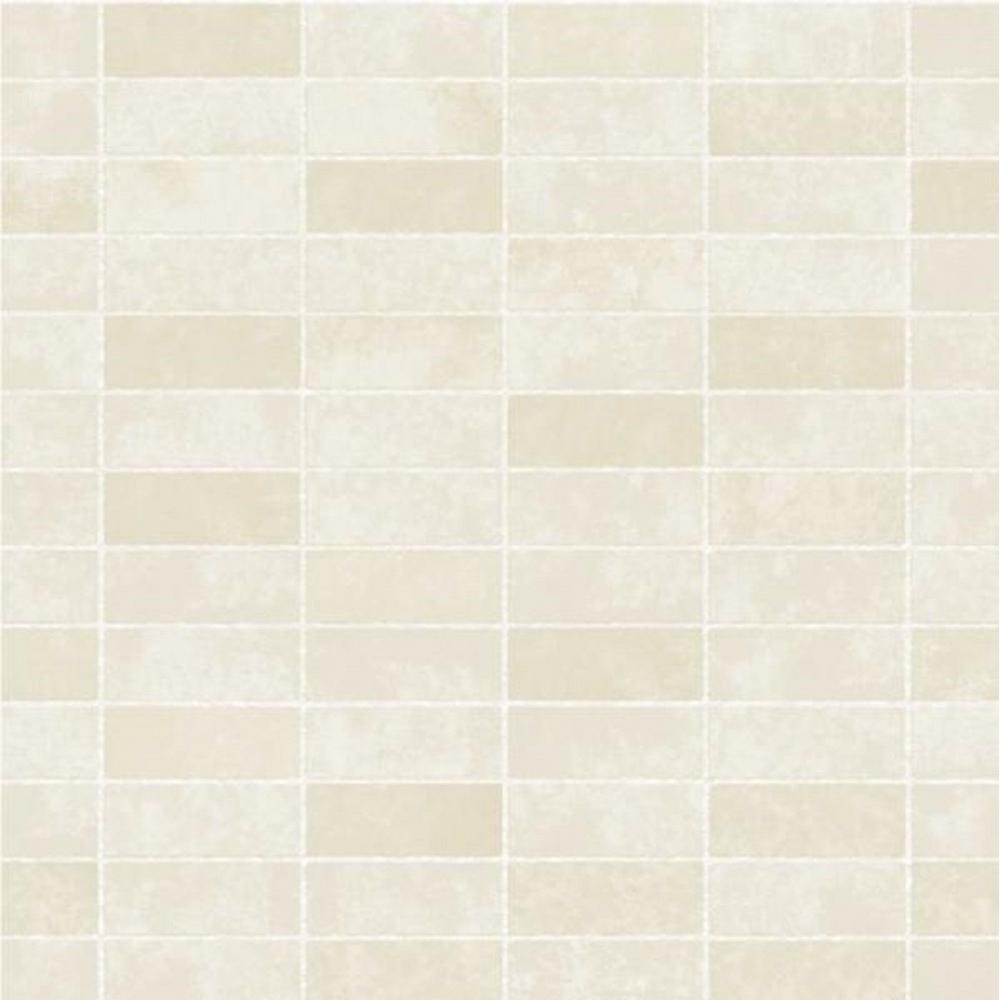 Fine Decor Ceramica Small Tile Effect Wallpaper Cream