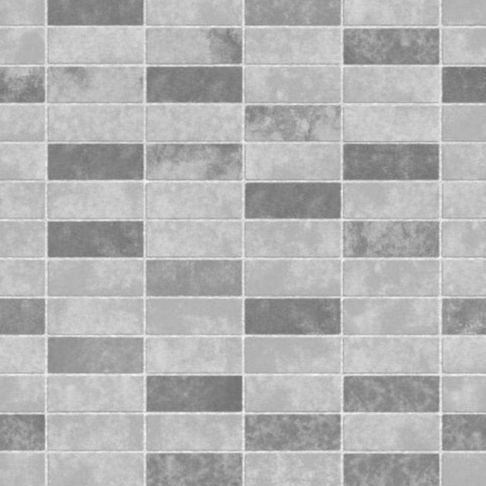 Ceramica Small Tile Effect Wallpaper Grey Soft Fd40117