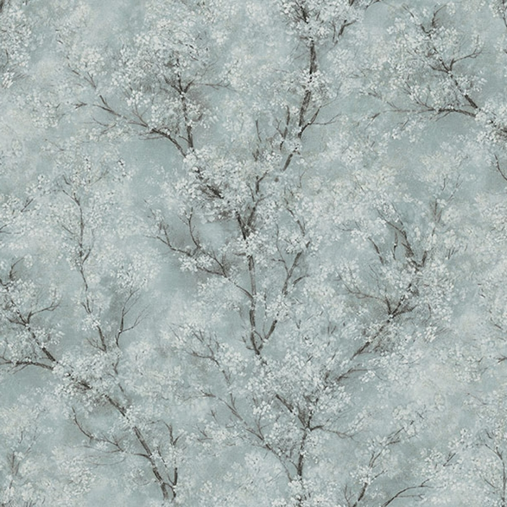 As Creation Chinoiserie Glitter Tree Wallpaper Blue Green Grey