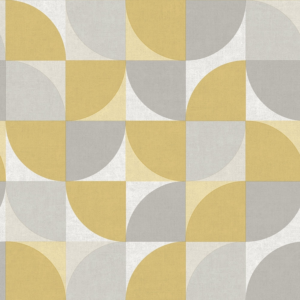 I Love Wallpaper Concept Geometric Wallpaper Yellow Grey