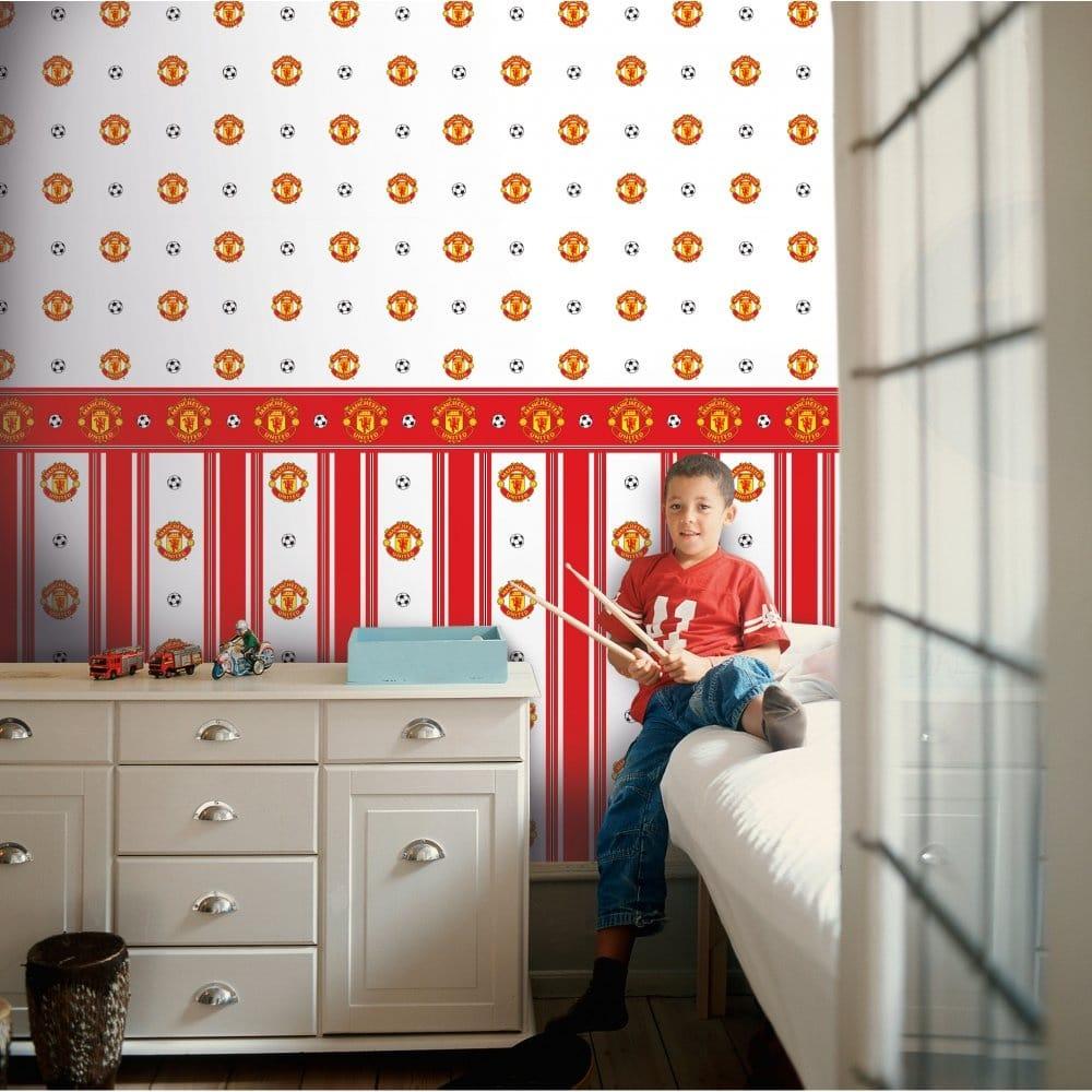 Manchester United Bedroom Wallpaper Decofun Manchester United Official Border Bo50000 Wallpaper