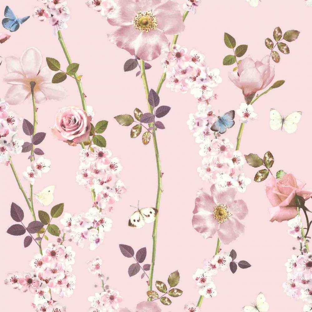 I Love Wallpaper Dreamscape Floral Trail Wallpaper Pink 902006