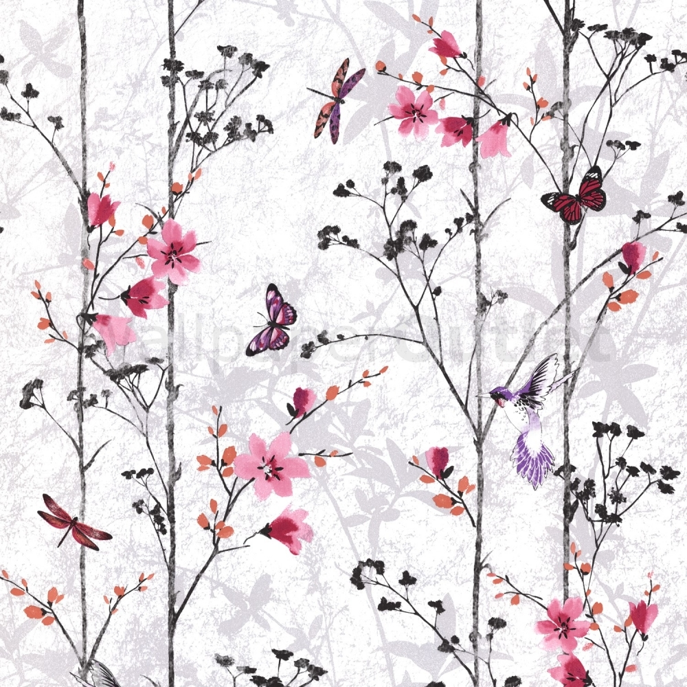 Muriva Eden Butterflies Wallpaper Pink 102550
