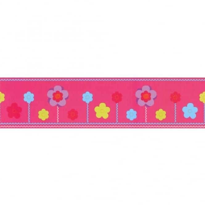Designer Selection Felt Flowers Self Adhesive Wallpaper Border 01429felt