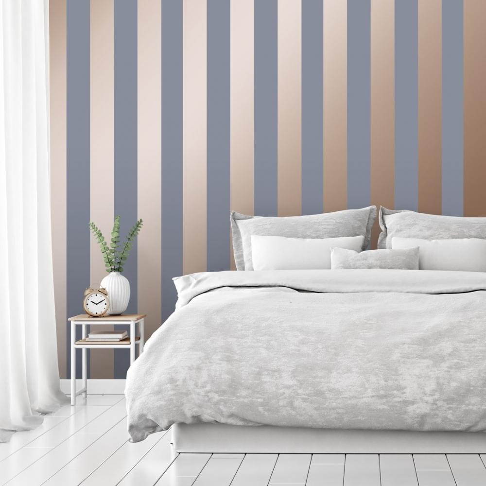 I Love Wallpaper Form Stripe Wallpaper Rose Gold Grey Wallpaper From I Love Wallpaper Uk