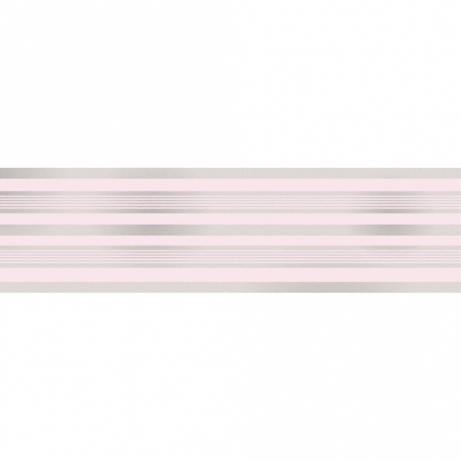 Fine Decor Glitz Striped Glitter Wallpaper Border Pink / Silver (DLB50151)