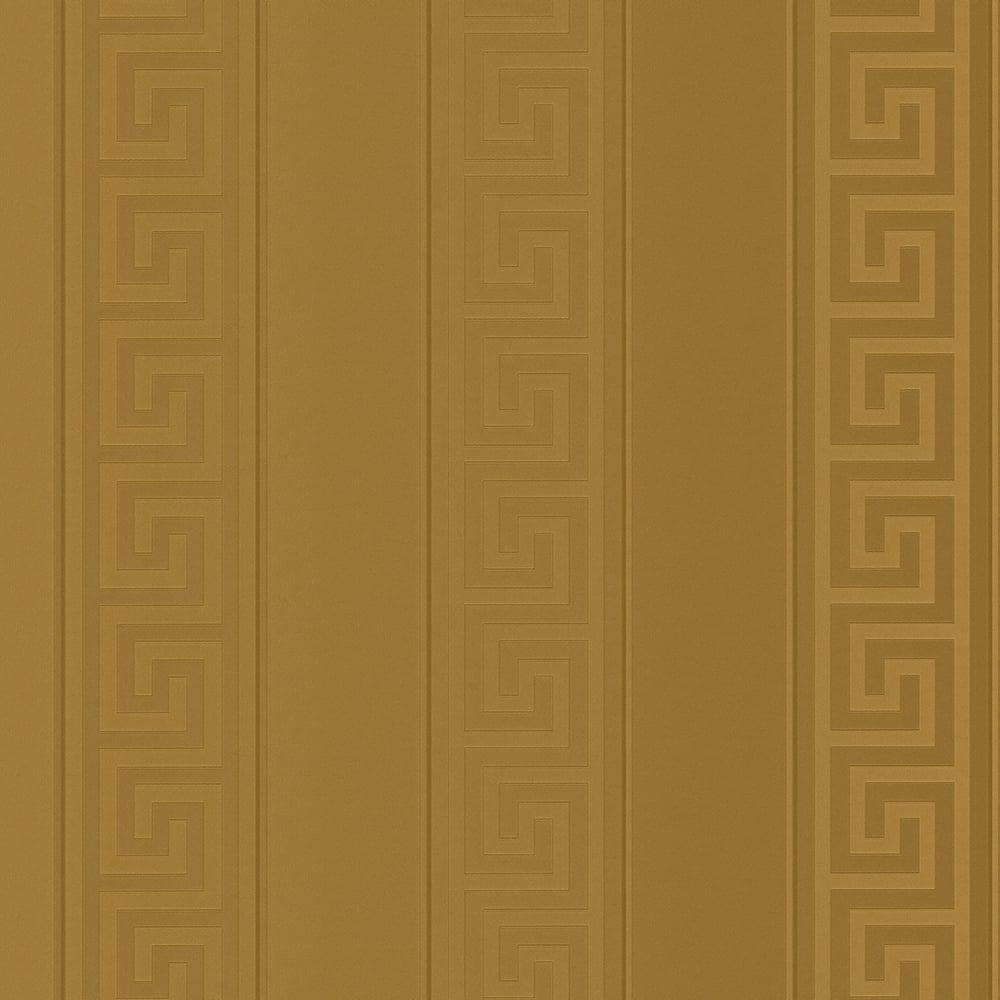 Versace Greek Stripe Wallpaper Antique Gold 93524 2 Wallpaper