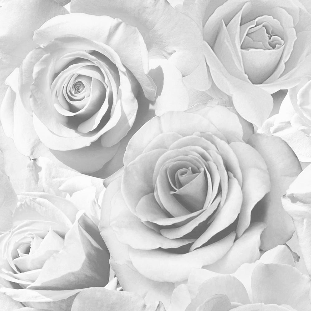 Madison Rose Wallpaper Soft Grey ILW010