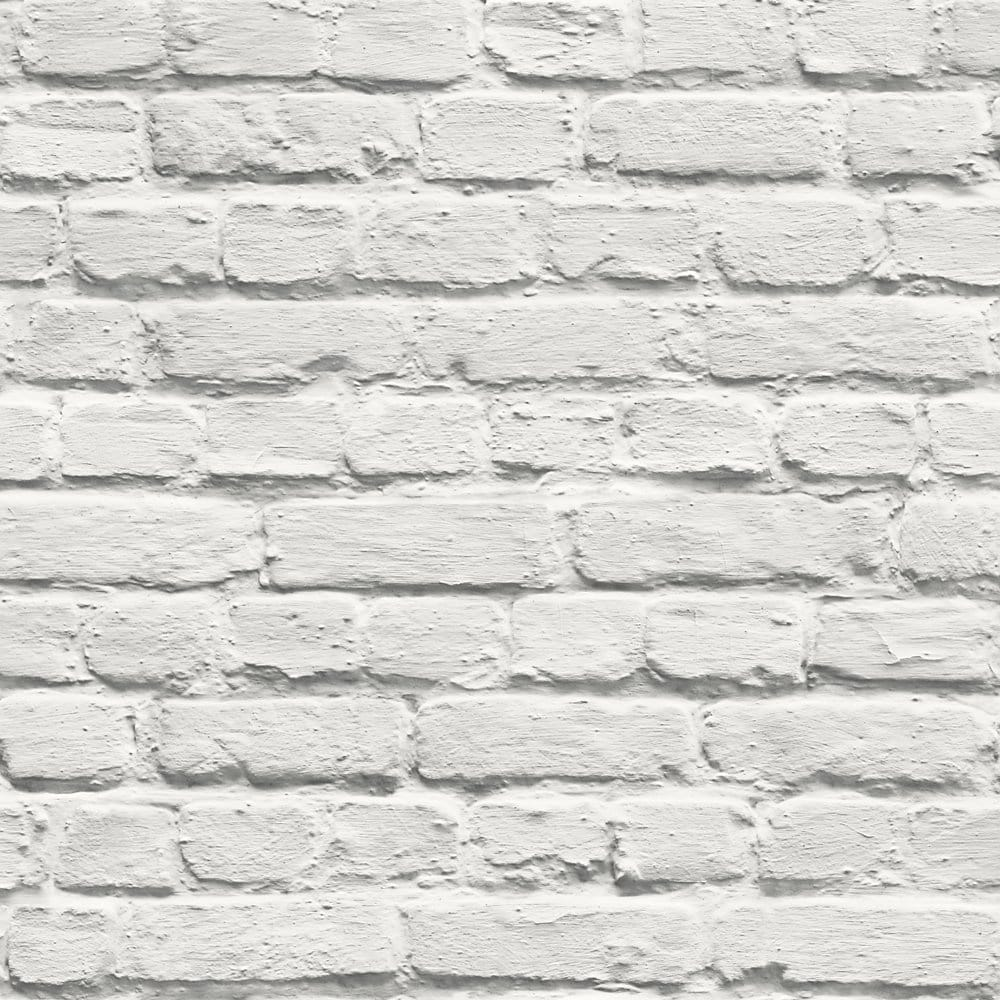 I Love Wallpaper Painted White Brick Wallpaper ILW002