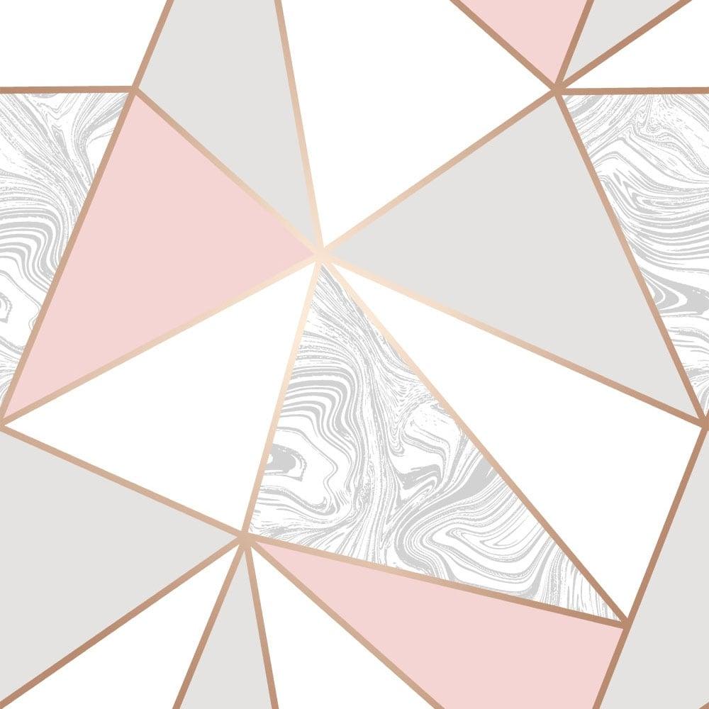 Zara Marble Metallic Wallpaper Soft Pink Rose Gold ILW980105
