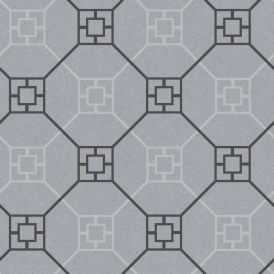Kato San Geometric Wallpaper Silver (900202)