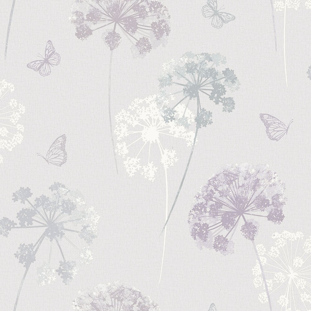 purple in bedroom arthouse kitty motif floral wallpaper 259101 12999