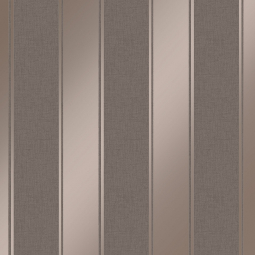 Arthouse Luxe Stripe Wallpaper Chocolate Rose Gold Wallpaper