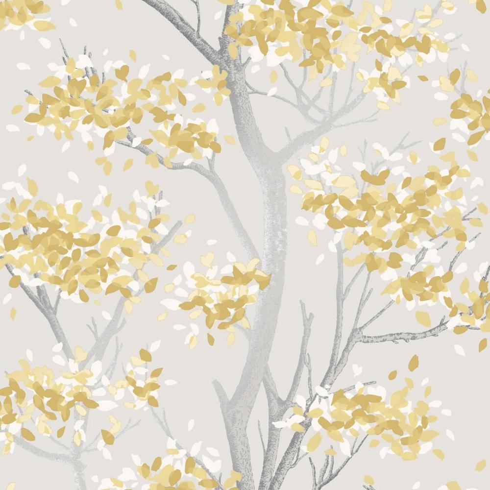 I Love Wallpaper Meadow Floral Trail Wallpaper Yellow Wallpaper