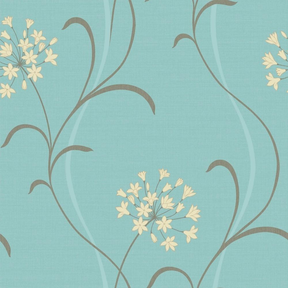 Arthouse Mia Motif Wallpaper Blue 599702 Wallpaper From I Love