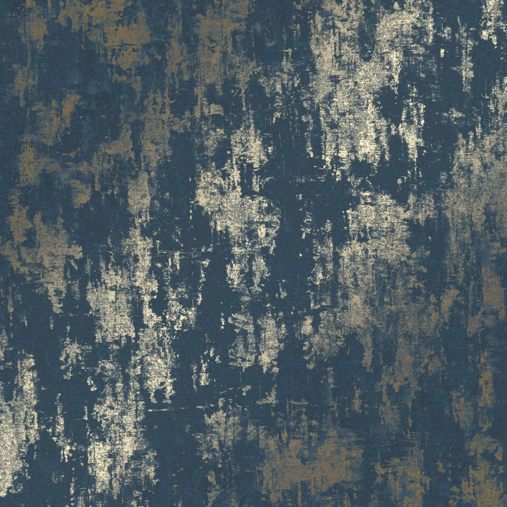 Milan Metallic Wallpaper Navy Gold