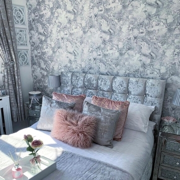 I Love Wallpaper Liquid Marble Wallpaper Silver @our_home_in_wiltshire