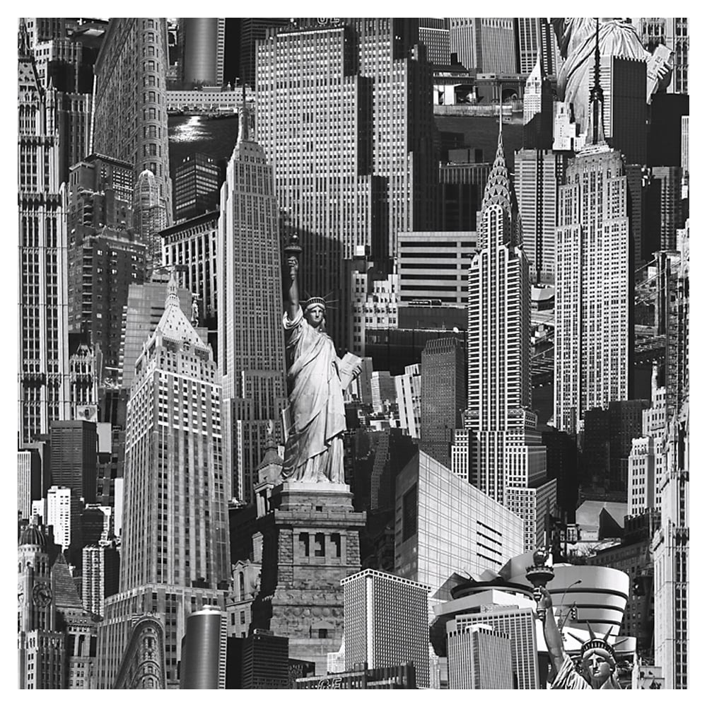New york city wallpaper black white