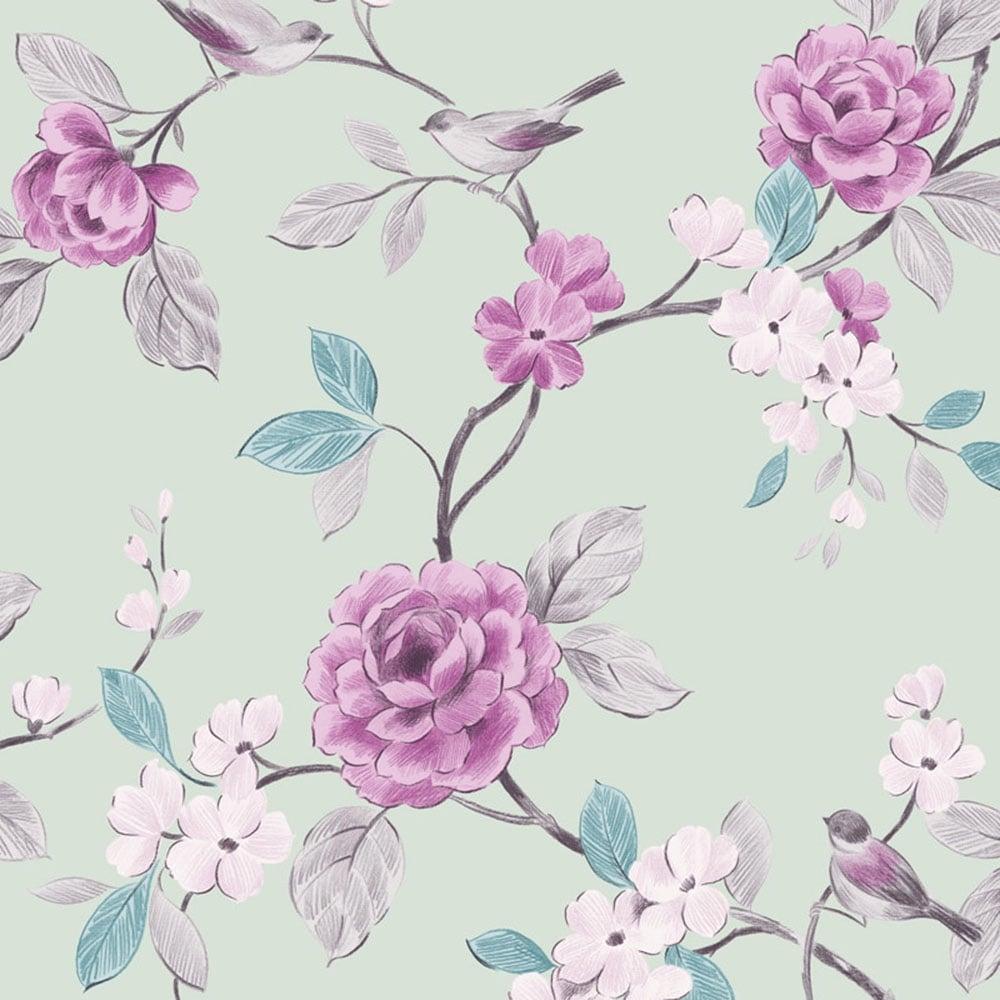 Arthouse Opera Lara Floral Wallpaper Mint (414500