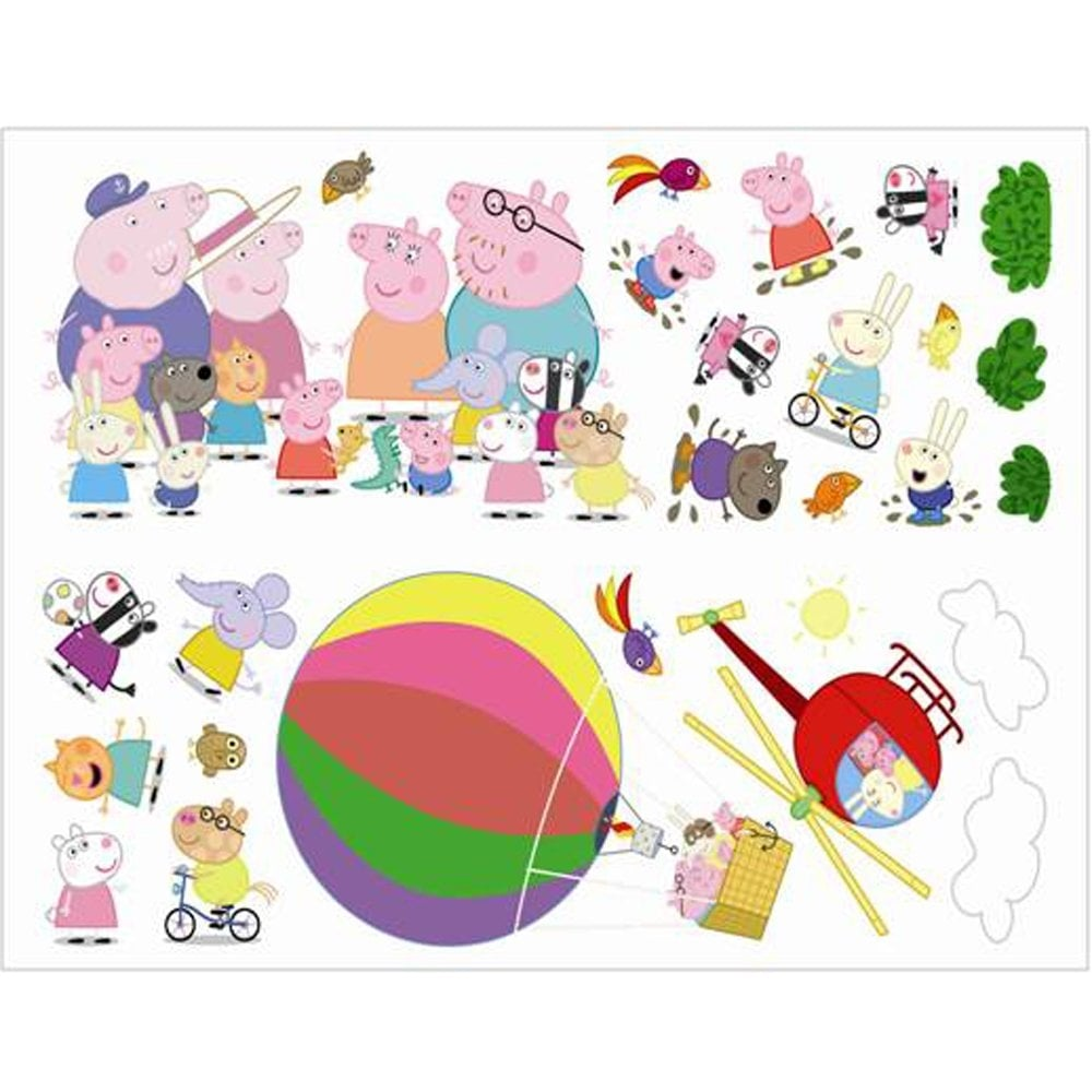 Fun4walls peppa pig hot air balloon wall stickers stikarounds peppa pig hot air balloon wall stickers stikarounds sa12159 amipublicfo Images