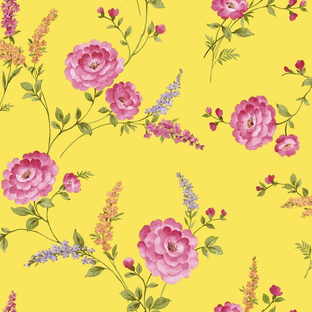 Sophie Conran Posie Designer Wallpaper Buttercup Yellow ...