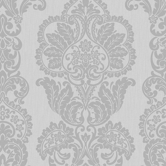 Fine Decor Rochester Damask Textured Glitter Wallpaper Grey Silver Fd40898 From I Love Uk