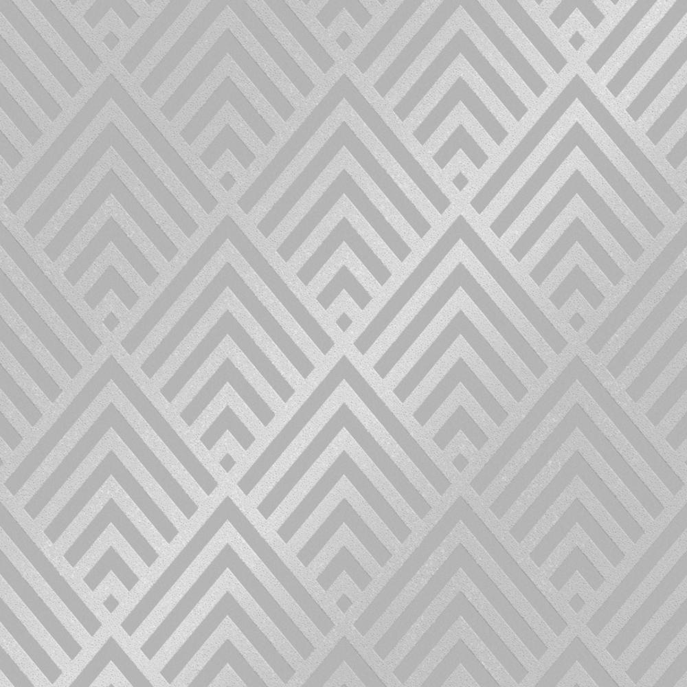 Henderson Interiors Shard Glitter Geometric Wallpaper Grey ...