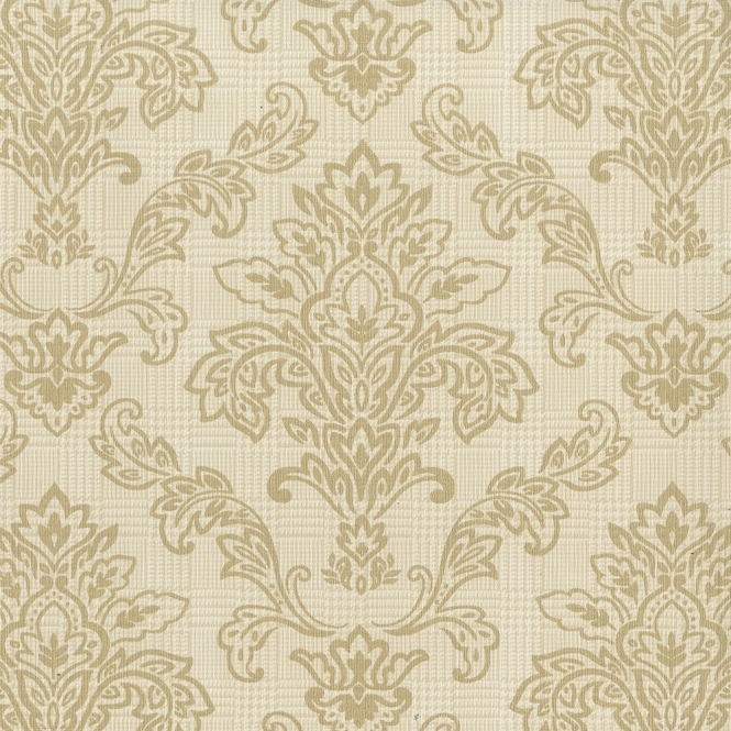 Fine decor stanton damask wallpaper gold fd40439 for Black white damask wallpaper mural