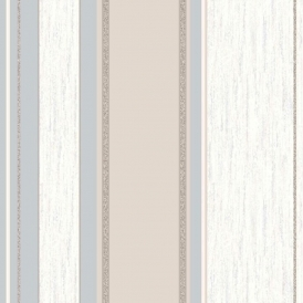 Synergy Striped Wallpaper Taupe, Cream, Silver (M0784)