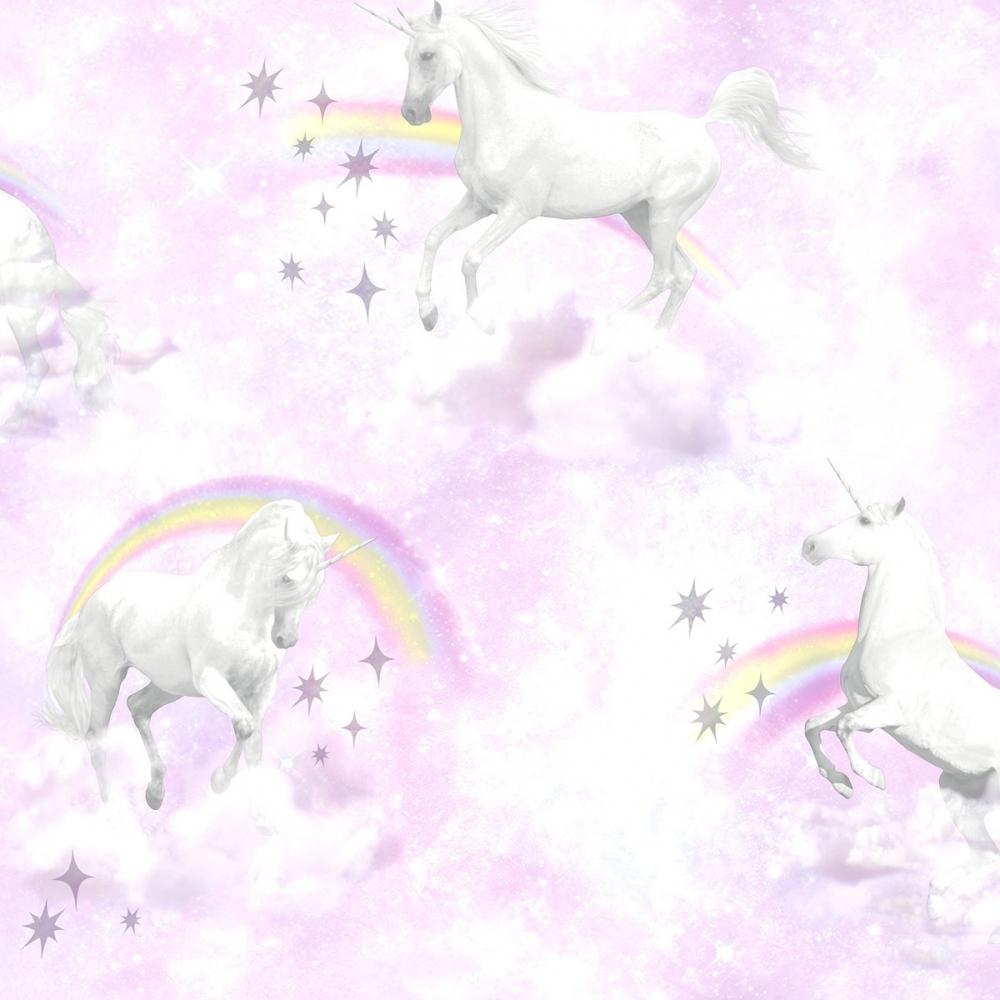 unicorn childrens wallpaper pink purple p6004 17150 image