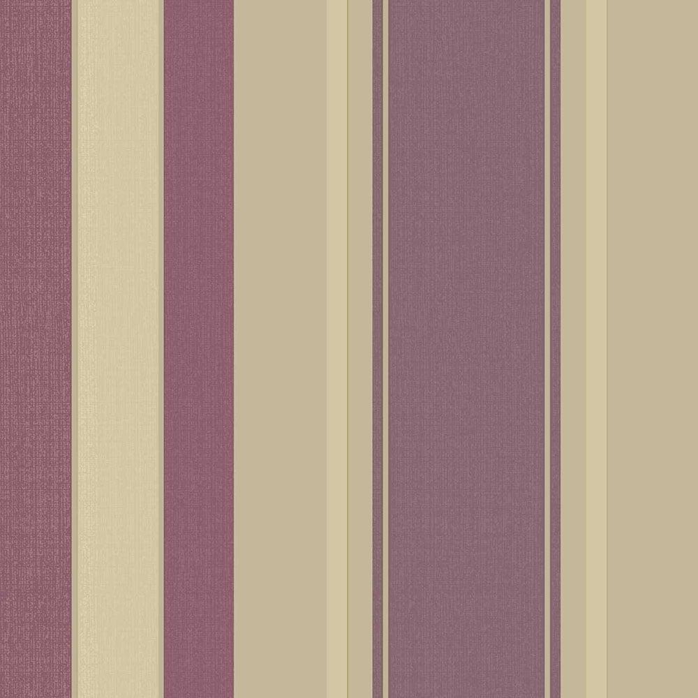 Arthouse Vintage Palazzo Stripe Wallpaper Mulberry 290500