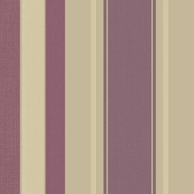 Arthouse Vintage Palazzo Stripe Wallpaper Mulberry 290500