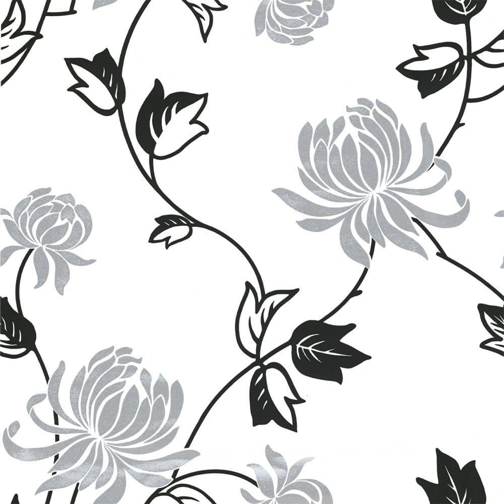 Arthouse Vintage Riva Motif Wallpaper Black White